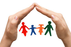 Family in house made of hands isolated Stock Photography