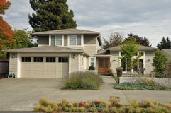 Family house with  nice landscaping Stock Photo