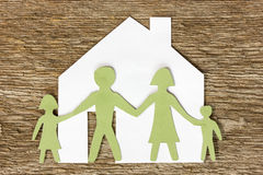 Family and house Royalty Free Stock Image