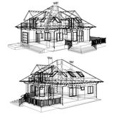 Family House Perspective Vector Royalty Free Stock Photography