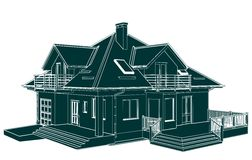 Family House Perspective Vector Stock Photo