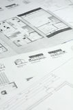 Family house plans. As background Royalty Free Stock Images