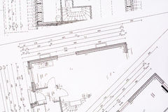 Family house plans. As background Royalty Free Stock Photos