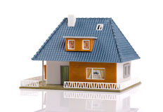 Family house - plastic scale model, isolated on white Royalty Free Stock Image