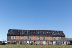 Family house with solar panels Stock Image
