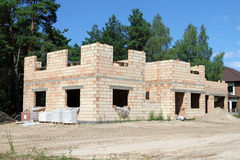 Family house under construction Royalty Free Stock Image