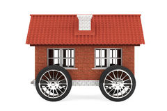 Family house on a wheels Royalty Free Stock Images