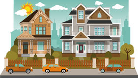 Family houses (diorama) Royalty Free Stock Images