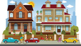 Family houses (diorama) Stock Image