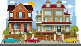 Family houses (diorama) Stock Image