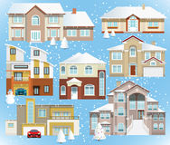 Family houses (Winter) Royalty Free Stock Images