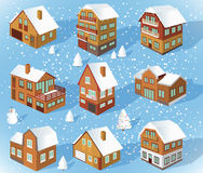 Family houses (Winter) Stock Image