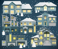 Family houses (Winter) Stock Photo