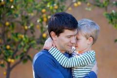 Family hugging Stock Image