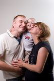 Family in hugs Stock Images