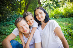 Family hugs Royalty Free Stock Photo