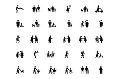 Family and Human Vector Icons 3 Royalty Free Stock Photography