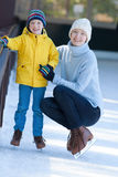 Family ice skating Royalty Free Stock Images