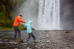 Family in iceland stock images