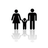 Family Icon. A symbol representing a family with shadow created in Photoshop Royalty Free Illustration