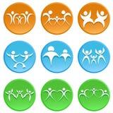 Family icon Stock Image