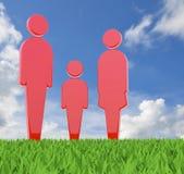 Family icon Stock Photos