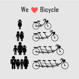 Family icon with bicycle concept , clean energy concept Stock Photography