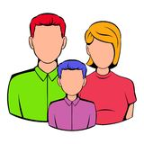Family icon cartoon. Family icon in cartoon style isolated vector illustration Stock Photography
