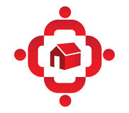 Family Icon Design With Home Stock Image