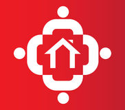 Family Icon Design With Home Royalty Free Stock Photography