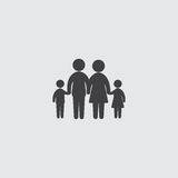 Family icon in a flat design in black color. Vector illustration eps10 Royalty Free Stock Photography