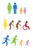 Family icon. Man woman kids old pregnant handicap symbol icon Vector Illustration
