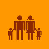 Family icon Royalty Free Stock Photo