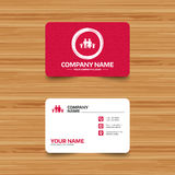 Family icon. Parents with children symbol. Business card template with texture. Family icon. Parents with children symbol. Family insurance. Phone, web and Stock Images