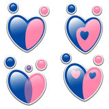 Family icon set. Symbol in the shape of a heart Stock Image