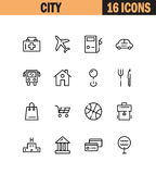 Family icon set. Stock Photo