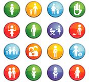 Family icon set. Family  icons for user interface design Royalty Free Stock Photo