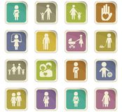 Family icon set. Family  icons for user interface design Stock Images