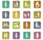 Family icon set Stock Images
