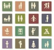 Family icon set Stock Image