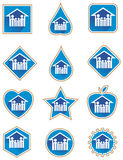 Family icon set. Illustrated family icon button set Royalty Free Stock Photo