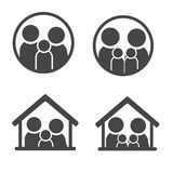Family Icon. Set with simple design Stock Photos