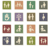 Family icon set Royalty Free Stock Photography