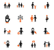 Family icon set. Family web icons for user interface design Royalty Free Stock Images