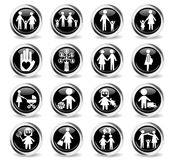 Family icon set. Family web icons for user interface design Stock Photo
