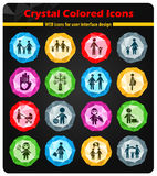 Family icon set. Family web icons for user interface design Royalty Free Stock Photography