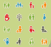 Family icon set. Family web icons for user interface design Stock Photos