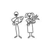 Family icon stick figure vector Stock Image