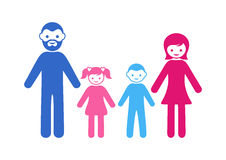Family icon with two children Royalty Free Stock Photo