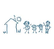 Family icon vector. Isolated on white background stock illustration